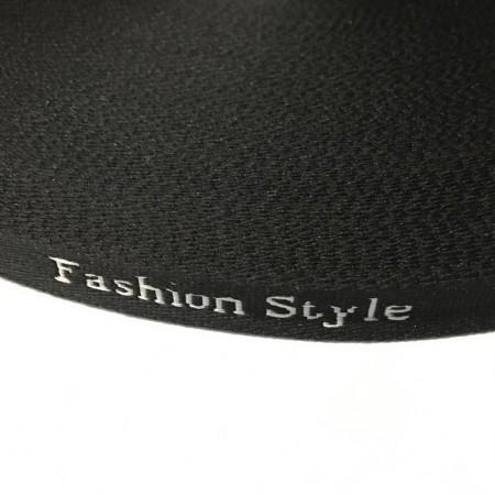 Тесьма с логотипом 10мм Fashion Style черно-белая (50 метров)