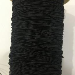 Резинка 1мм (нитка резинка) черная (100 грамм)