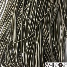 Резинка шнур производство 2,5см коричневый бежевый (50 метров)