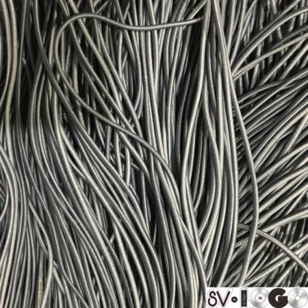 Резинка шнур производство 2,5см серый (50 метров)