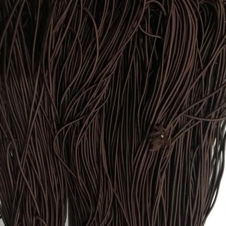 Резинка шнур производство 2,5см коричневый (50 метров)
