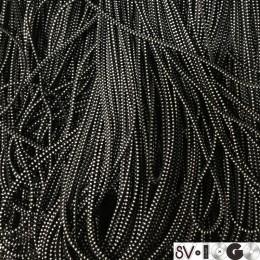 Резинка шнур производство 2,5см черный белый (50 метров)