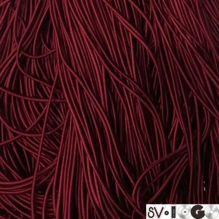 Резинка шнур производство 2,5 см красный темный (50 метров)