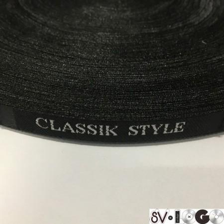 Этикетка жаккардовая вышитая Classik Style 10мм (100 метров)