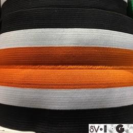 Резинка 130мм для манжетов рыжий черный белый (метр )