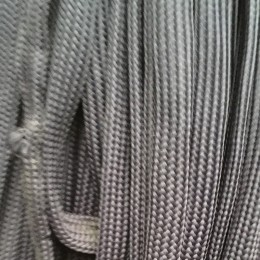 Шнур плоский чехол ПЭ40 20мм серый светлый (50 метров)