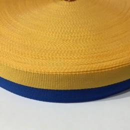 Тесьма репсовая производство 30мм желтая синяя Украина (50 метров)