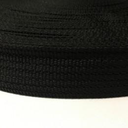 Тесьма-лента ременная производство 40мм М черный (100 метров)