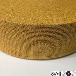 Резинка 50мм золото желтый (25 метров)