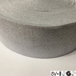 Резинка 60мм серебро (25 метров)