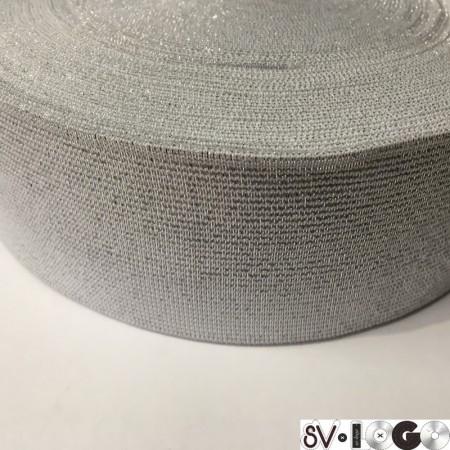 Резинка 6 0мм серебро (25 метров)