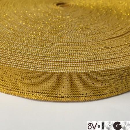Резинка 20мм желтый люрекс (25 метров)