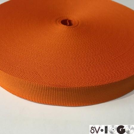Тесьма репсовая производство 20 мм оранжевый (50 метров)