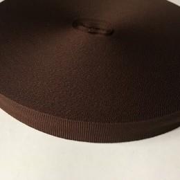 Тесьма репсовая производство 20мм коричневый темный (50 метров)