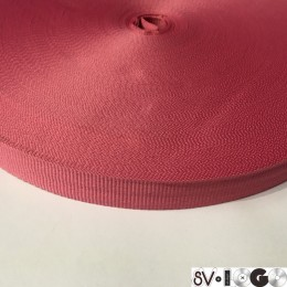 Тесьма репсовая производство 15мм розовый темный (50 метров)