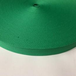 Тесьма репсовая производство 15мм зеленая (50 метров)