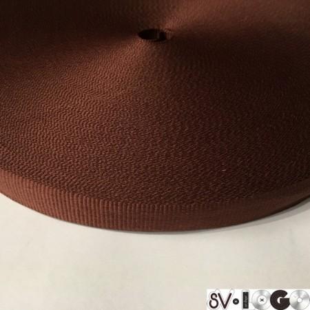 Тесьма репсовая производство 15 мм коричневая (50 метров)