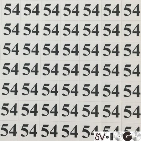 Размеры клеевые (320 на листе) 54 (лист)