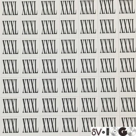 Размеры клеевые (320 на листе) XXXL (лист)