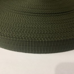 Тесьма-лента ременная производство 25мм хаки репс (50 метров)