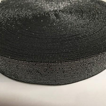 Резинка 30мм серебро черный (25 метров)