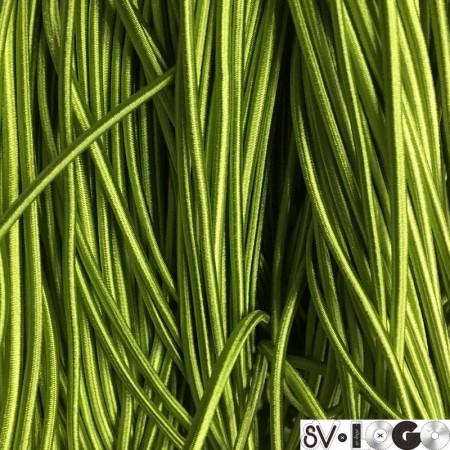 Резинка шнур производство 2,5 см салатовый тейлон (50 метров)