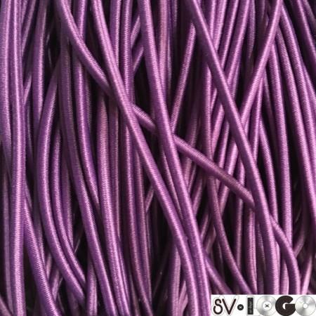 Резинка шнур производство 2,5 см фиолетовый (50 метров)