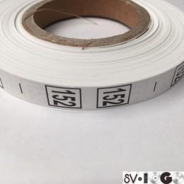 Размерная лента (накатка) 152 (1000 штук)