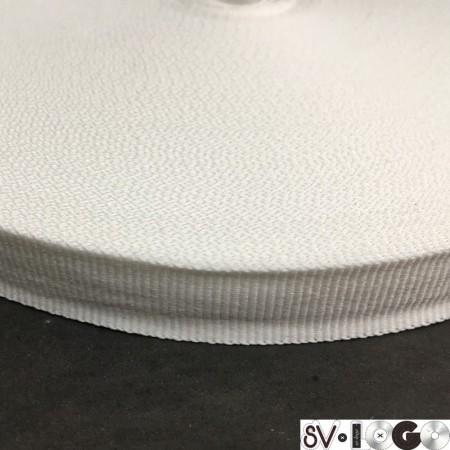 Тесьма репсовая производство 25 мм белая (50 метров)