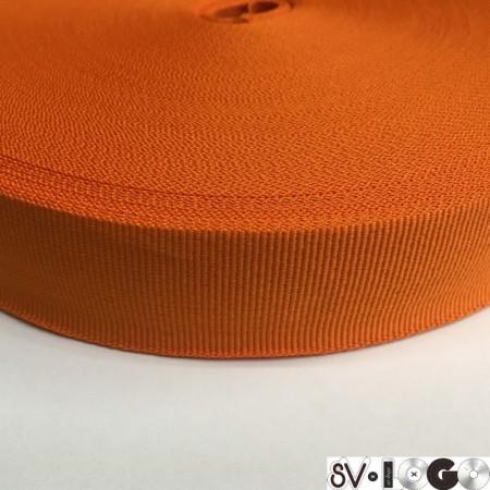 Тесьма репсовая производство 30 мм оранжевая (50 метров)