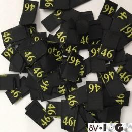 Размер жаккардовый 10х10мм (черный-желтый) 46 (100 штук)