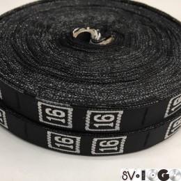 Размерная лента (тканная) 16 (1000 штук)