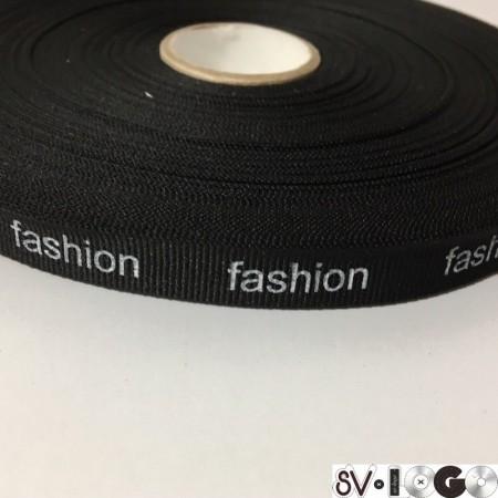 Тесьма репсовая производство 15 мм накатка Fashion белый (50 метров)