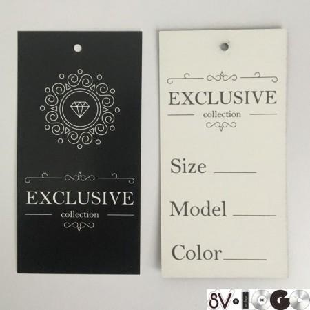 Этикетка картонная 5х10см Exlusive colection (1000 штук)