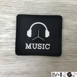 Этикетка силиконовая (изготовление) Music 4x5см (Штука)