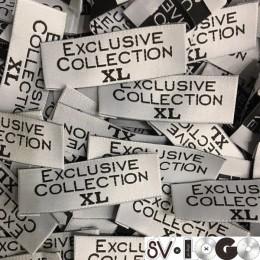 Этикетка жаккардовая вышитая Exclusive Collection 20мм XL (1000 штук)