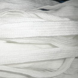 Шнур плоский АК 20мм белый (50 метров)