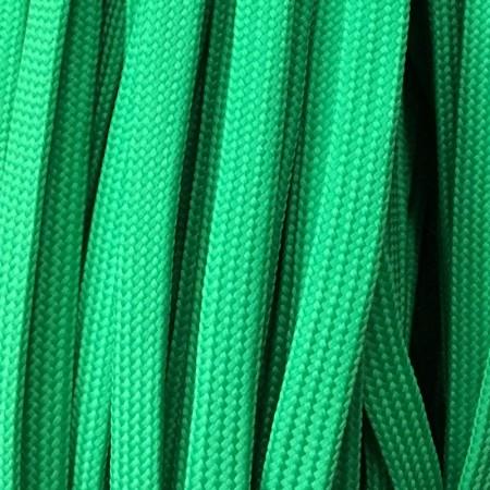 Шнур плоский чехол ПЭ40 10 мм зеленый (100 метров)