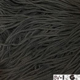Шнур круглый 3мм черный (200 метров)