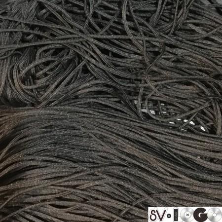 Шнур круглый 1 мм черный (100 метров)