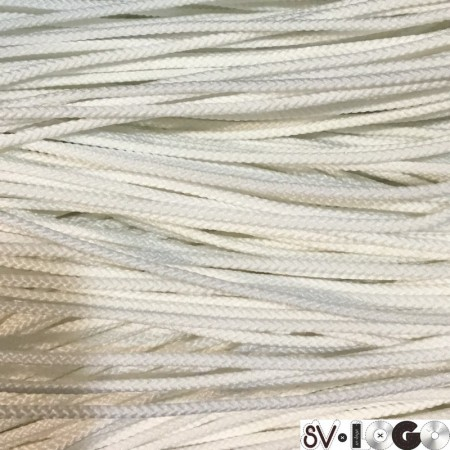 Шнур круглый 2 мм белый (100 метров)