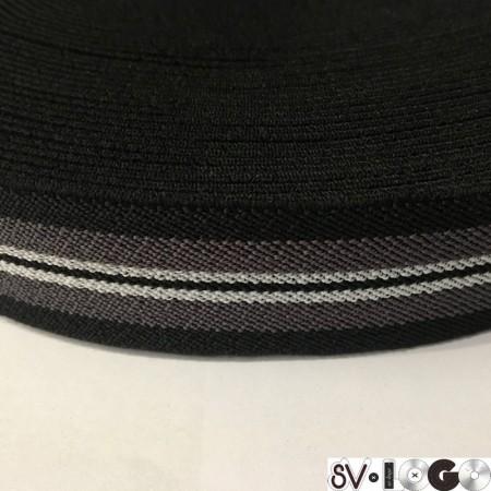 Резинка 35 мм черный серый белый (25 метров)