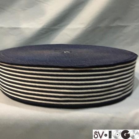 Резинка 60 мм полоска синяя (тельняшка) (25 метров)