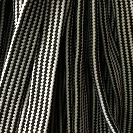 Шнур плоский чехол ПЭ40 20 мм черно белый (50 метров)