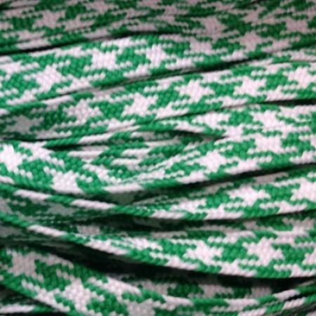 Шнур плоский ПЭ 12 мм зелено белый (100 метров)