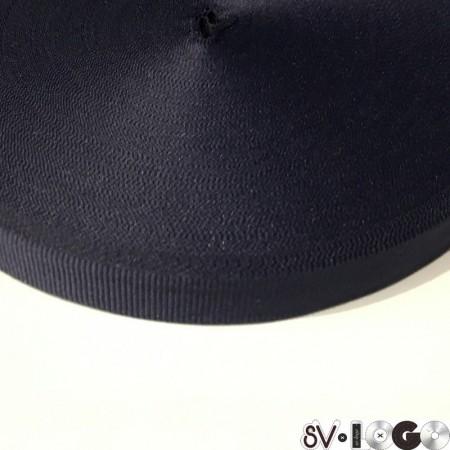 Тесьма репсовая производство 10 мм синяя (50 метров)