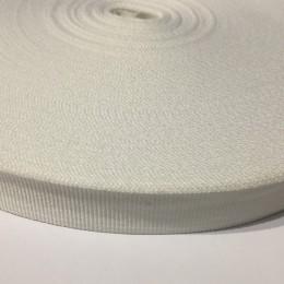 Тесьма репсовая производство 10мм белая (50 метров)