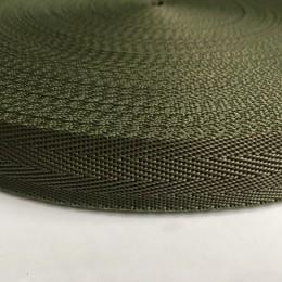 Тесьма-лента ременная производство 25мм хаки зигзаг (50 метров)