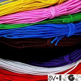 Резинка шнур 2,5мм цветная (50 метров)