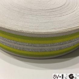 Резинка 42мм желтая серебро (32 метра)